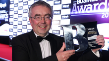 Winner of the Belfast Telegraph Overall Business of the Year award sponsored by British Airways Martin Agnew from Henderson Group