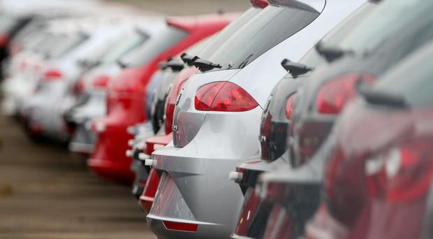 The number of cars built in the UK plummeted by almost half in April compared with a year ago, new figures reveal. (stock picture)