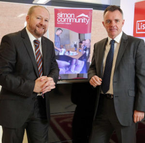 Brian Shanks of the Simon Community NI and Declan Flynn, managing director at Lisney