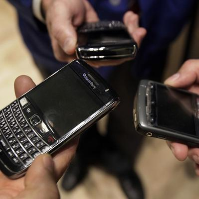 BlackBerry shares lost 6% in Wednesday