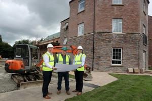 Brendan Mallon of Nollam Contracts (centre) with Trevor Kennedy (left) and Jim Burke of Hagan Homes