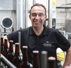 Seamus O'Hara of the Carlow Brewing Company and co-founder of the Belfast Craft Beer Festival