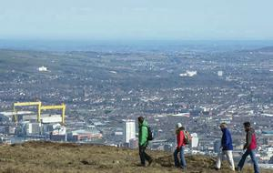 Belfast as viewed from Divis.