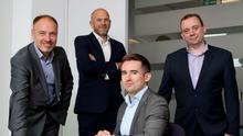 Pictured left is Colin Hamill, Head of Network Enabled Services at BT Business in Northern Ireland with his team of industry experts that includes Jonathan Magee, Peter Trimble and Paul Caldwell