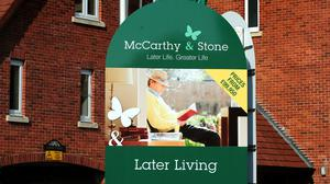 Revenues for retirement home builder McCarthy & Stone rose by a third to £250.2 million in the six months to February 29