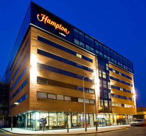 The outside of the Hampton Hilton hotel in Liverpool