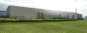An artist's impression of the Full Circle Generation Facility which will be located next to Bombardier's wing facility in the Harbour Estate, Belfast