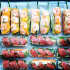 Supper club specialities include Vietnamese summer rolls with prawn and mango, and seared chilli and lemongrass beef