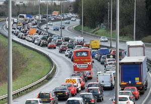 Lorries travelling along the M2 have been targeted