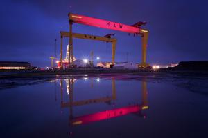 The iconic Harland & Wolff cranes