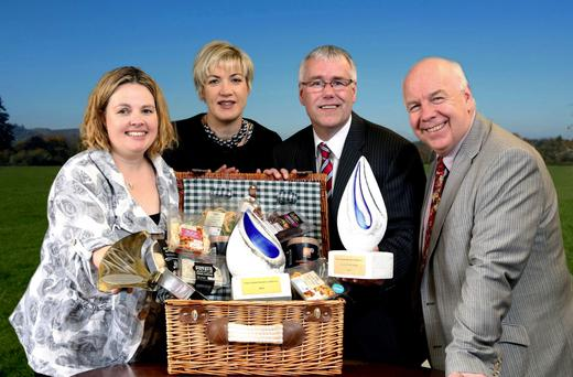 Launching Ulster Bank Business Achievers Awards are Dawn Cann of Avondale Foods, Margaret Hearty of IntertradeIreland, Richard Donnan of Ulster Bank, and Ian Murphy of Invest NI