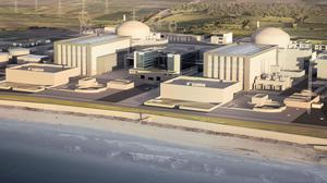 Artist's impression of plans for the new Hinkley Point C nuclear power station (EDF/PA)