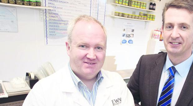 Crawford Ewing, Director of Ewing's Seafood, and Barry McBride, Invest NI's Executive Director of International Business.