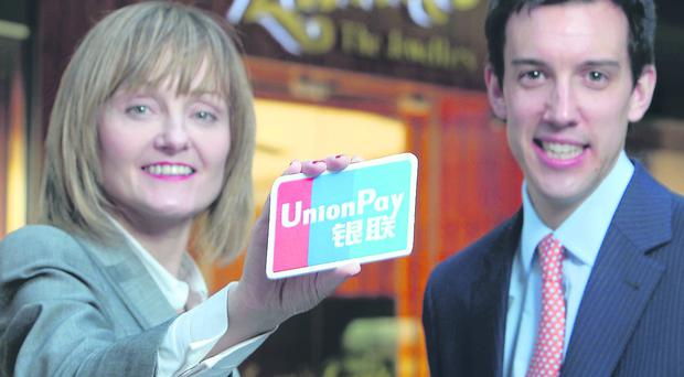 Move to boost Chinese spending: Lunns Jewellers has become the first retailer in Northern Ireland to accept China UnionPay credit and debit cards