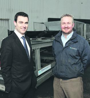Neil McCabe (left), Senior Investment Manager, WhiteRock Capital Partners and Philip Trimble, Director at ConveyorTek