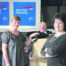 Brenda Morgan (right), British Airways partnership manager for Northern Ireland, with Fiona Bell (left), corporate travel manager at KANA