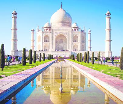 The spectacular Taj Mahal in Agra, India