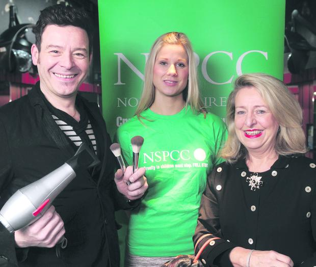 Hairdresser Andrew Mulvenna joined NSPCC corporate fundraising manager Joni Rock and boutique owner Elaine Peel