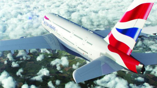 The new British Airways A380 Airbus