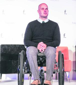 Adventurer Mark Pollock who is addressing the Belfast Telegraph Business Awards
