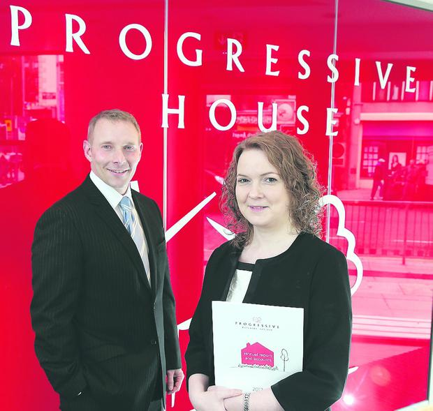 Progressive Building Society chief executive Darina Armstrong and Michael Boyd, deputy chief executive and finance director