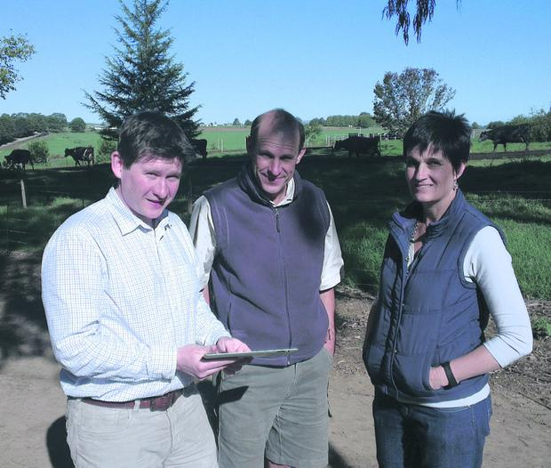 FarmWizard MD Terry Canning with the Stratfords in South Africa