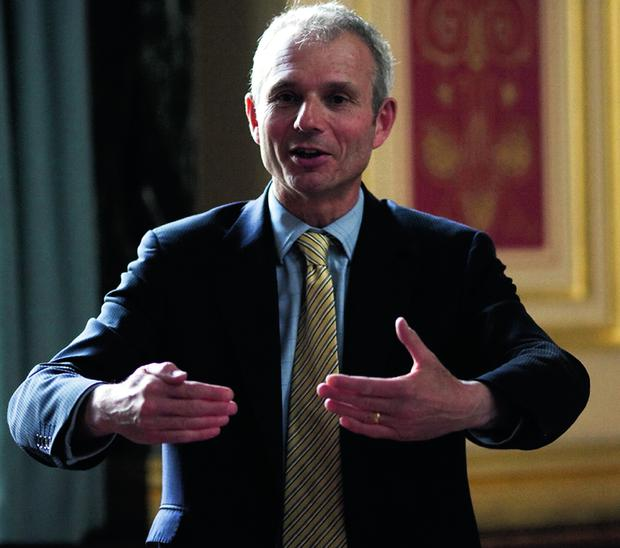 Minister for Europe David Lidington in Belfast yesterday