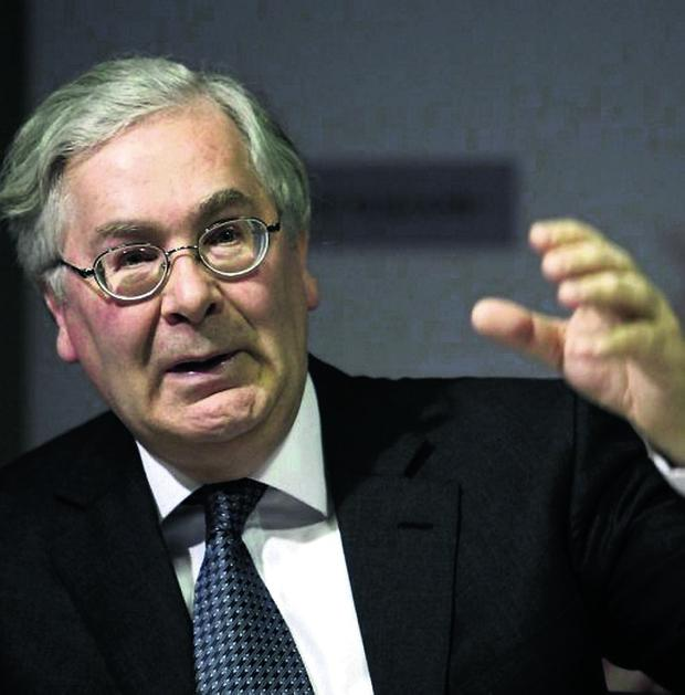 Outgoing Governor of the Bank of England Mervyn King