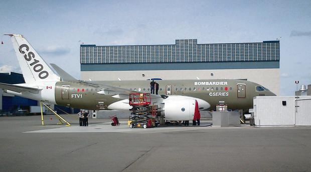 New CSeries aircraft is rolled out of paint shop