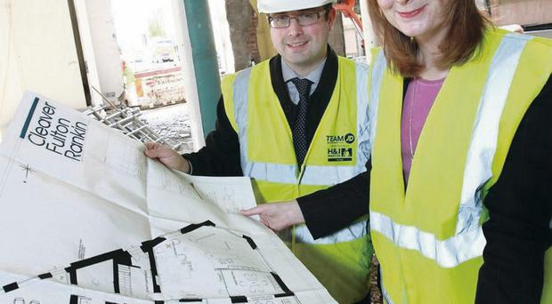 Managing director Karen Blair joined director Jonathan Forrester to look at the plans for the expansion.