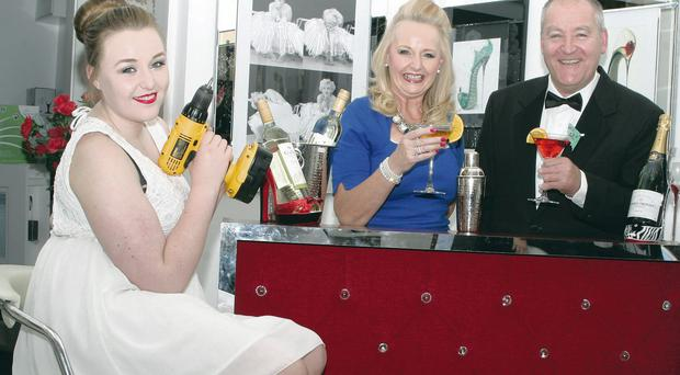 Sean and Maire McAnearney with daughter Maria launch Fourteen 4, specialising in customised cocktail bars and party essentials