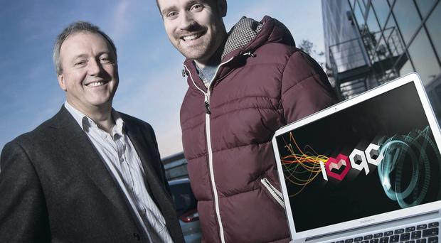 On track: Graham Robinson (right) with director of Halo, Alan Watts