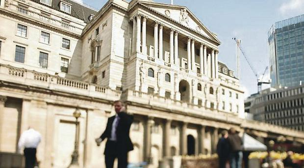 Rates hold: Threadneedle Street, home to the Bank of England