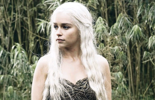 Emilia Clark in Game of Thrones which is filmed in Northern Ireland