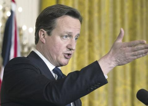 Making moves: Prime Minister David Cameron will decide on corporation tax as soon as Scotland votes