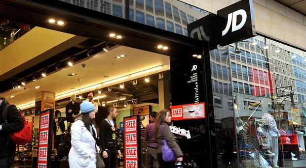 JD Sports, which has 580 sports outlets in Europe, said profits for the six months to August 3 jumped to £20m from £10m a year earlier