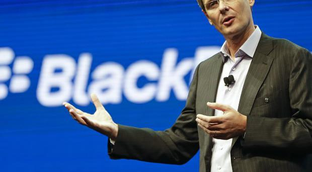 BlackBerry said it will lay off 4,500 employees, or 40 per cent of its global workforce (AP)