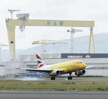 British Airways says it has stood up to competition from Aer Lingus on the Belfast City Airport shuttle service to London since its takeover of BMI last year
