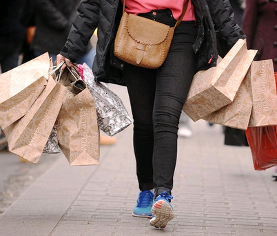 In October shopper numbers were 9.8% lower than a year ago