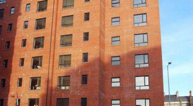 Apartments at College Court Central in King Street in Belfast have been sold for social housing by the National Asset Management Agency