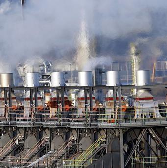 Chemical assets at the Grangemouth refinery have been written down to zero.
