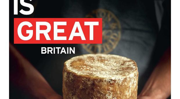 An advertisement from the Department for Business, Innovation and Skills as part of a drive to boost British food and drinks exports