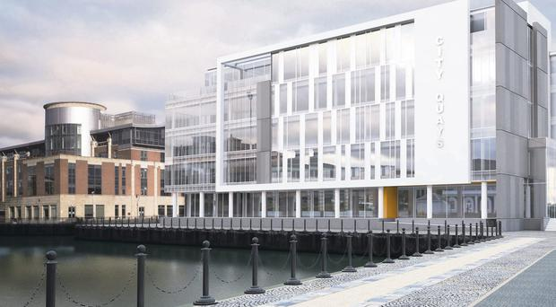 Planning permission has already been granted for Belfast Harbour's spectacular CQ1 office block