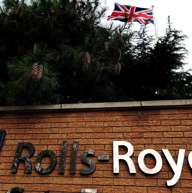 The engines order is a boost for the Rolls-Royce works at Derby.