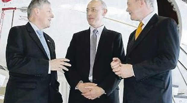 Peter Robinson and Martin McGuinness visited Bombardier's Canada HQ last year
