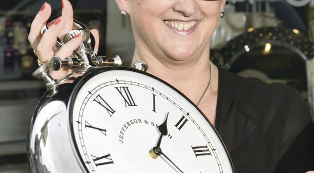 Clocking in: Anne Brace, store manager of Bedeck on Belfast's Lisburn Road, looks forward to a new era with Equinox