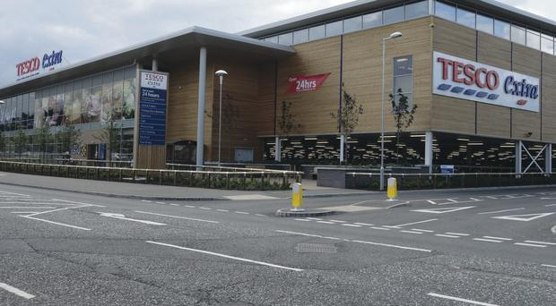 The Tesco Extra in Newry which has been sold for £30m