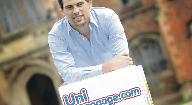 Paul Stewart of Uni Baggage, an online website which transports students' bags in the UK and Europe
