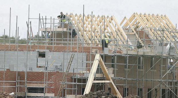 Site for sore eyes: The increase in houses being finished is welcome news for the economy