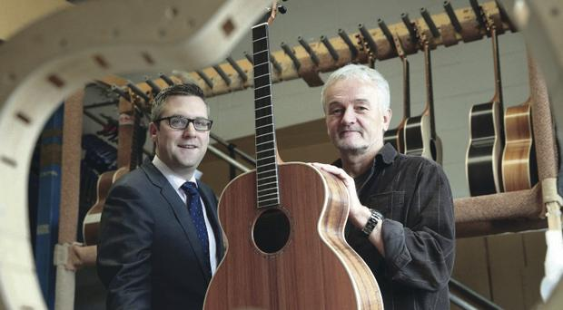 From left David McCurley, Senior Investment Manager, WhiteRock Capital Partners and George Lowden, owner of Lowden Guitars